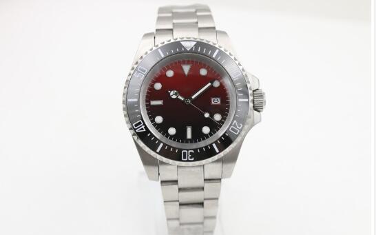 Venda quente Novo Mostrador Vermelho de Prata Relógios Cinto de Aço Inoxidável Branco Ponteiro Relógio Mens Moda Relógios de Pulso frete grátis