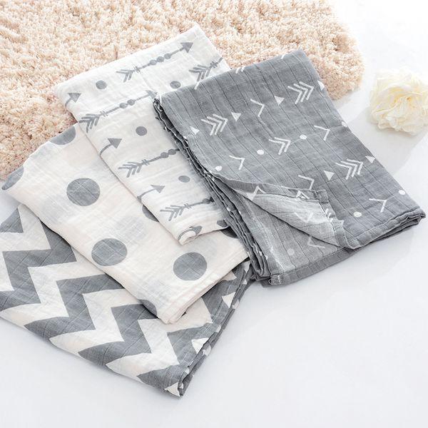 Newborn Cotton Blanket Swaddle Baby Muslin Swaddle Wrap Kids Gauze Bedding Kids Bath Towel