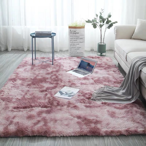 Bedroom Water Absorption Carpet Rugs Tie Dyeing Plush Soft Shaggy Rug  Carpets For Living Room Child Bedroom Anti Slip Floor Mats Beaulieu Carpets  ...