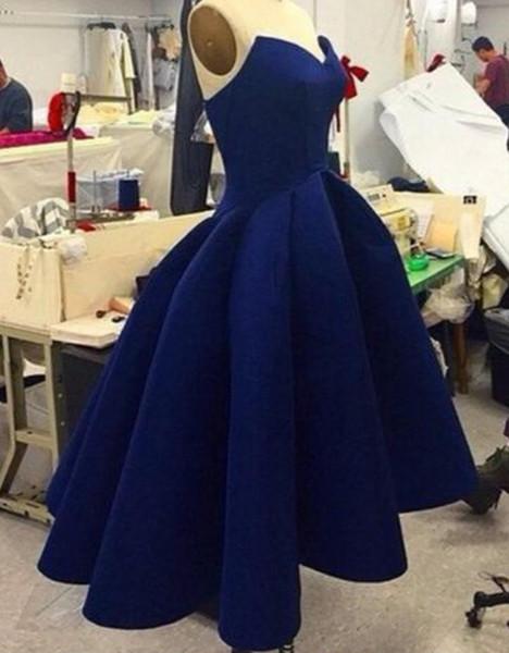 Koyu Mavi Sevgiliye Fırfır Örgün Abiye kadın Moda Gelin Kıyafeti Özel Durum Balo Nedime Parti Elbise 17LF155
