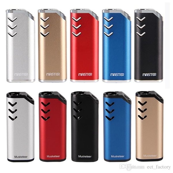 2021 originale ECT Mousquetaire vape batterie de préchauffage 650mAh vv pour les cartouches d'huile épaisse boîte mod cigarette électronique Vaporizer