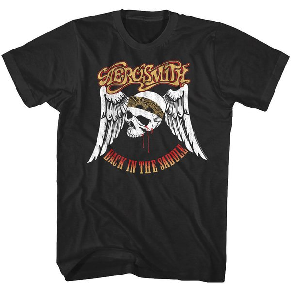Aerosmith Back in the Saddle Track Men's T Shirt Rock Band Album Cover ConcertFunny free shipping Unisex Casual Tshirt top