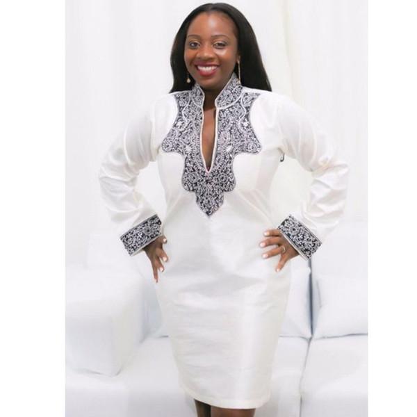 S-5XL Женщины Печатные Платья Африка Традиционный Стиль Dashiki Лето Полный Рукав Женщина Африканская Одежда Riche Bazin Наряды