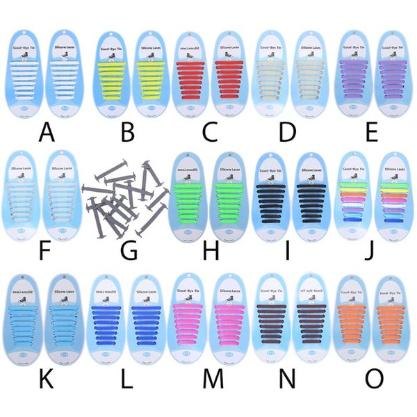 16Pcs Adult Kid Lazy No Tie Silicone Shoelaces Waterproof Elastic Wash-Free Rainbow Shoe Laces for Casual Sneakers Running Boots