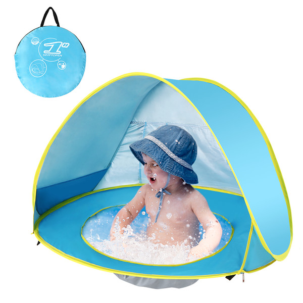 Baby Beach Tent Waterproof Pop Up Portable Shade Pool UV Protection Sun Shelter for Infant Kids Outdoor Camping Sunshade Beach