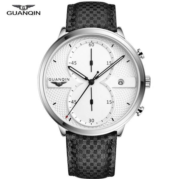 Guanqin Mens Watches Top Brand Luxury 2019 Fashion Chronograph Watch Man Quartz Wrist Watch for Men Clock relogio masculino