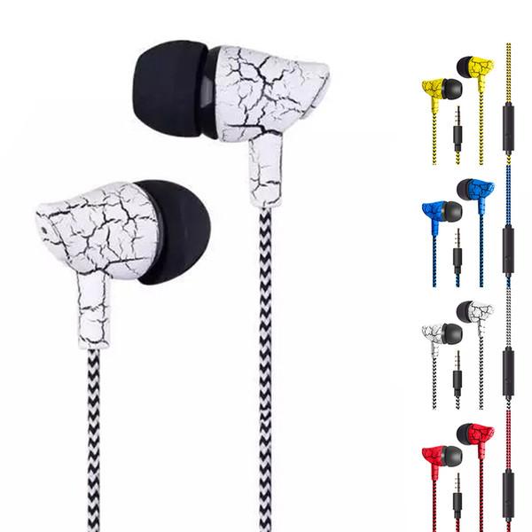 NUEVO diseño de grieta para auriculares 1.2 m con cable para auriculares 3. Conector de 5 mm para auriculares de teléfono móvil con oreja auricular universal para todo tipo de teléfonos