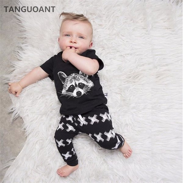 b501797ab5c5ca 2019 TANGUOANT Baby Jongens Kleding Sets Baby Meisjes Jongens Vos Katoen  Tops T Shirt + Broek Leggings 2 Stuks Outfits Jongens Kleding From  H6241163, ...