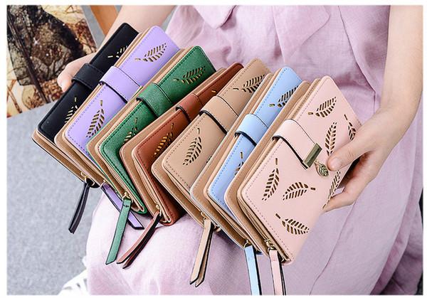 Mode En Cuir Pour Femmes Porte-cartes Sac À Main Porte-monnaie Femmes Long