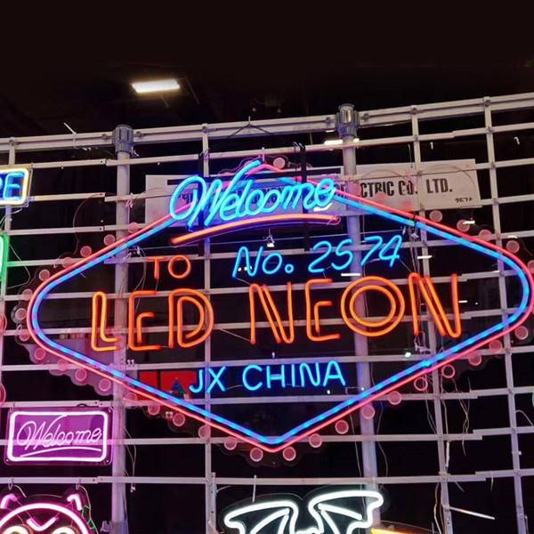 Custom Factory LED Neon Sign lumière Neon Flex HandMade Beer Bar Pub Shop Logo Boutique du Club Discothèque