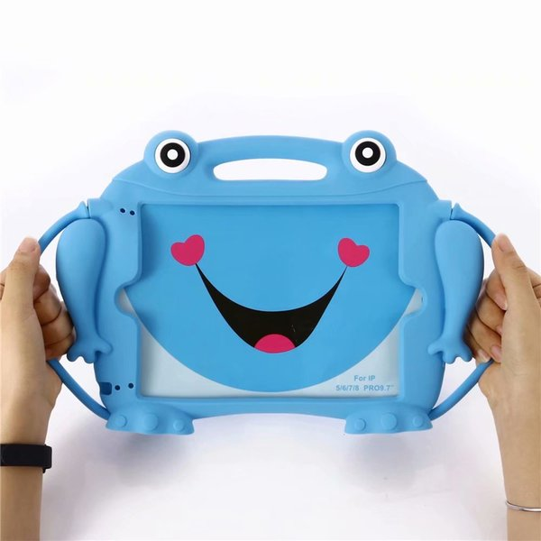 Shockproof Foam Shockproof Case for IPad5 6 air2 pro 9.7 2017 2018 A1822 A1823 A1839 EVA Stand Kids Safe Silicone Cover with+pen