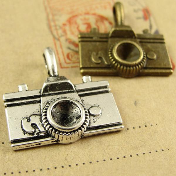 22*21*4MM Antique Bronze Retro vintage tibetana camera charm pendant, DIY handmade jewelry wholesale mobile phone accessories