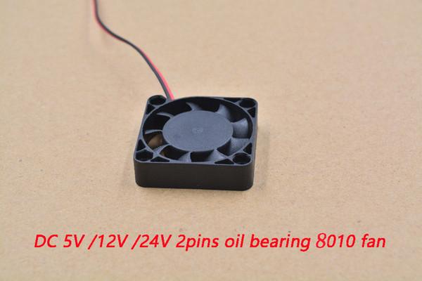 Вентилятор 3D принтер 8010 2 белый 80 мм 80х80 мм х10, 8 см графика карта постоянного тока 5В / 12В / 24В 2Р 1шт