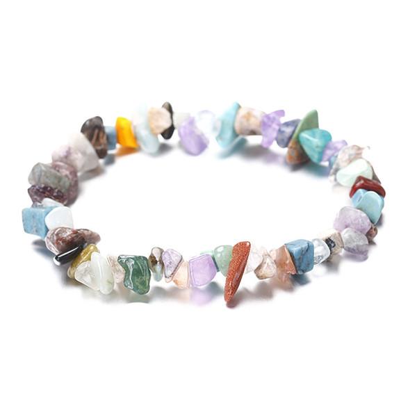 Turquoise Arbre de Vie Bracelet Pierre Bracelets Élastique Corde Wristlet Pierre Naturelle Perlée Brins Femmes Multicolore Cristal Corail Bijoux