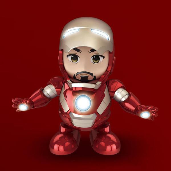 Avengers Action Figure Iron Man LED Danza Musica Suono Giocattolo Regalo
