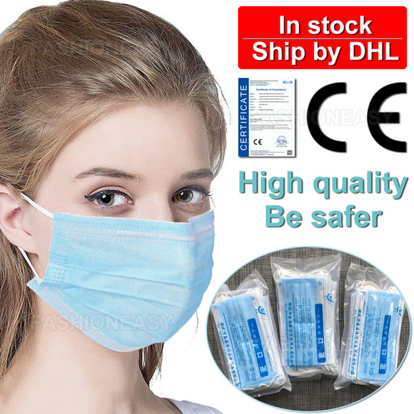 disposable face mask 3ply ear-loop mouth masks 3 layer non-woven disposable anti dust flu mask breathable protective mask wholesale