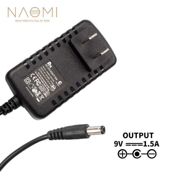 NAOMI Alimentation Chargeur 9V 1.5A US Adaptateur Alimentation Chargeur Noir Pour Guitare Effets Pédale US Plug Guitare Accessoires
