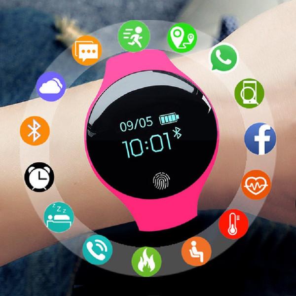 Smart Watch Damen Herren Sportuhr Fitness Armband Farbdisplay Wasserdicht Kalorien Schrittzähler Tracker Connect IOS Android
