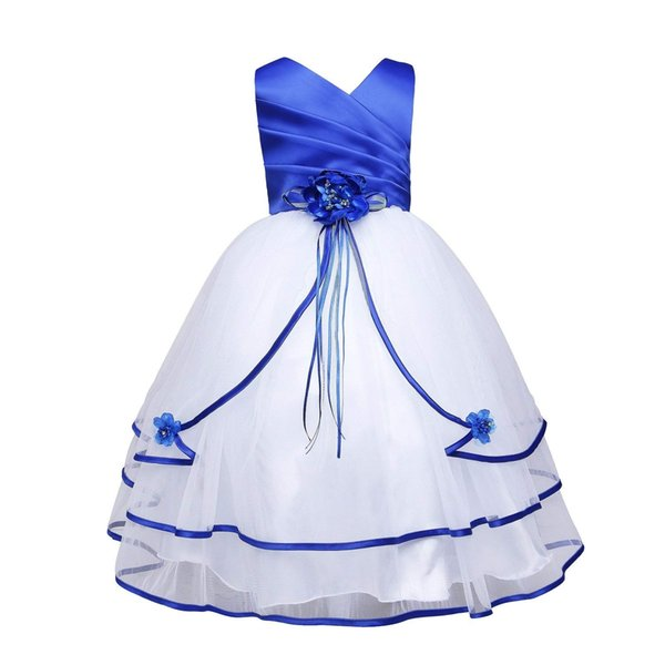 New Cute Formal Occasion Party Brithday Dress Little Big Girl's Pageant Flower Girl Dress