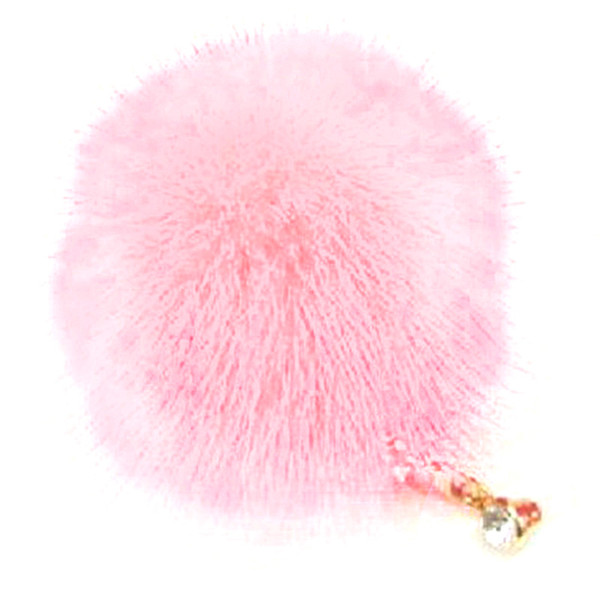 1X Bling 3D Pompon pedrería Protección contra el polvo de auriculares de 3,5 mm Protección del enchufe del polvo del enchufe a prueba de polvo del receptor de cabeza del casquillo a prueba de polvo