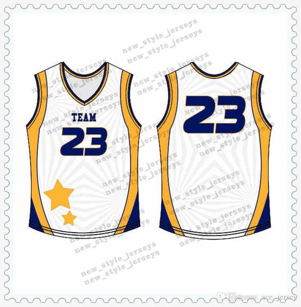 -18Новые баскетбольные майки белые черные мужские молодежные дышащие Quick Dry 100% сшитые высококачественные баскетбольные майки s-xxl3