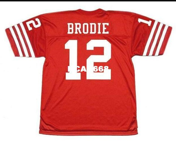 top popular Men #12 JOHN BRODIE 1973 Sewn Stitched RETRO JERSEY Full embroidery Jersey Size S-4XL or custom any name or number jersey 2019