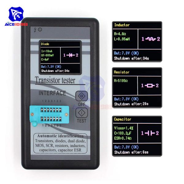 MOSFET Transistor Capacitor Tester Mega328 NPN/PNP Transistor Diode Resistor Inductor Capacitance MOS SCR ESR Meter Detector