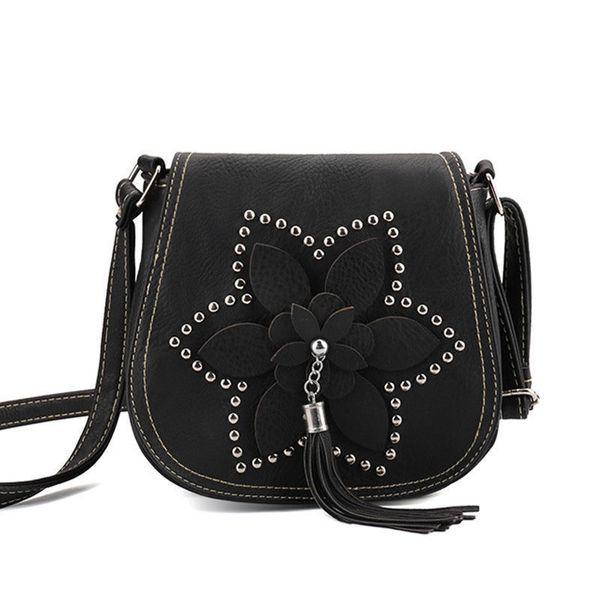 good quality Brand Designer Tassel Women Bags Rivet Flower Crossbody Bags Pu Leather Female Messenger Shoulder Bags Sac A Main
