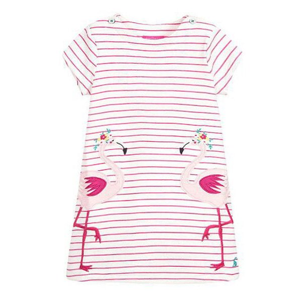 Jumping meters Princess Flamingo Dresses Baby cotton Clothing Summer Party dresses Costume fashion girls dresses 2-7T Kids