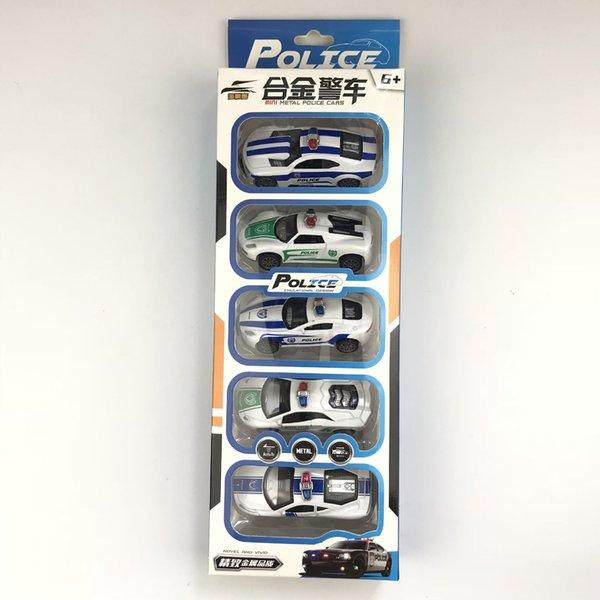 5 Pcs Police car
