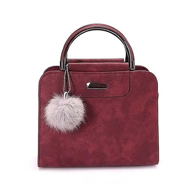 2018 new casual hair ball iron standard handbag fashion simple style package wild trend single shoulder Messenger bag