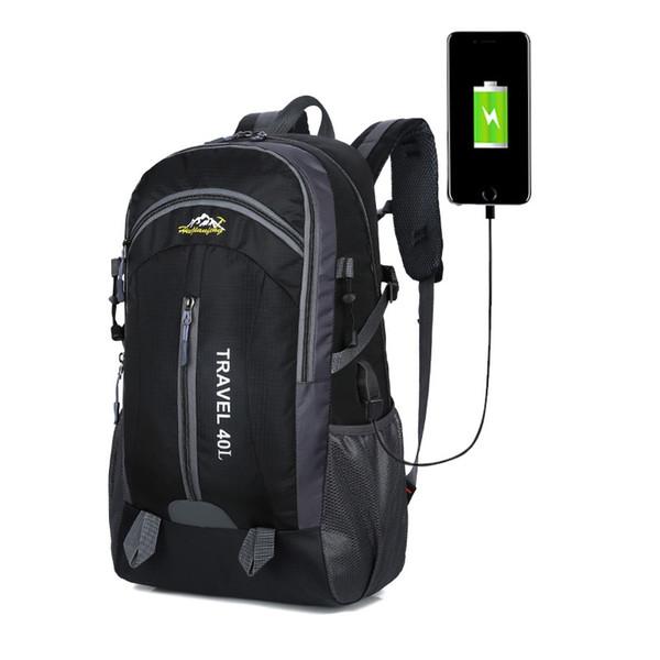 40L Waterproof Backpack Hiking Bag Cycling Climbing Backpack Laptop Rucksack Travel Outdoor Bags Men Women Anti Theft Sports Bag #288283