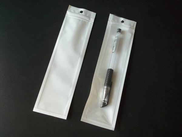 5x18 см молния белый розничный пластиковый пакет сумка прозрачный поли opp мешок руч