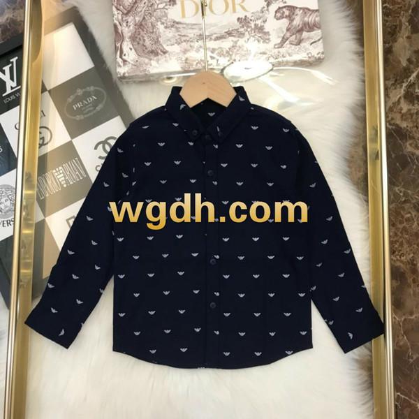 eeca7089a683d 2019 Enfants Vêtements Veste Garçons Chemise Chemisier pur coton à treillis  en coton à manches longues-19
