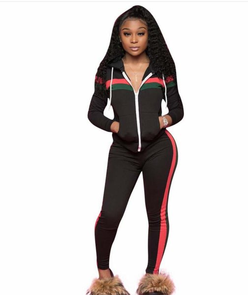 Brand Designer women jogging suit 2 piece set tracksuit crop top leggings outfits sportswear shirt tights sweatsuit sexy clothes