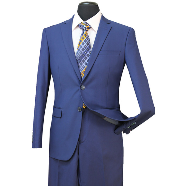 New Formal Wedding Men Tuxedos UTRA Slim Fit Bridegroom Tuxedos For Men Two Piece Groomsmen Suit Cheap Jackets + Pants