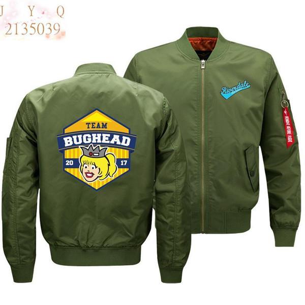 2019 tamaño más grande moda popular river valley town anime patrón de impresión de los hombres chaqueta bomber ropa casual ventas directas de la fábrica