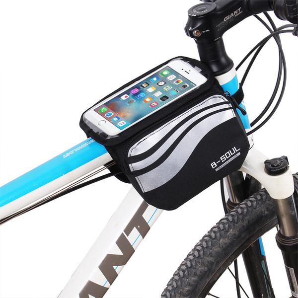Sac de rangement portatif Voyage multifonctionnel imperméable à l'eau pliant Panier à vélo vélo sport en plein air Grand sac de téléphone à écran tactile 5.7