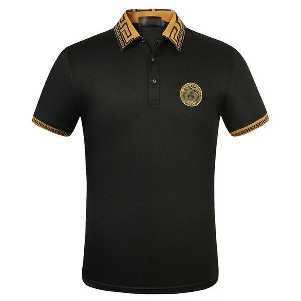 Весной и летом популярные модели мужской хлопчатобумажной вышивкой с короткими рукавами футболки оригинальные рубашки поло дизайнерские рубашки поло мужской