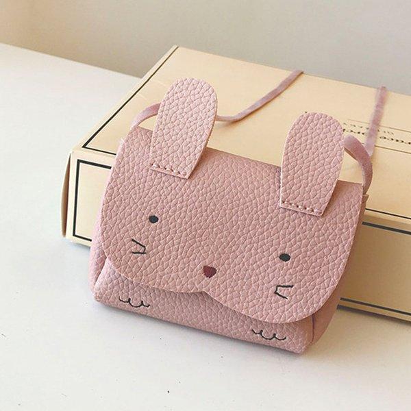 2019 Children Ladies Shoulder Bags Kids Messenger Bag PU Leather Rabbit Mini Baby Girls Street Sweet Coin Hasp Purse
