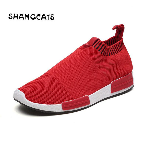 Trend 2018 Men Summer Mens Casual Sock Shoes Sapato Masculino Sneakers Men Adult Sock Slip On Shoes Chaussure Homme Loafer Shoes Mens Sandals Dress