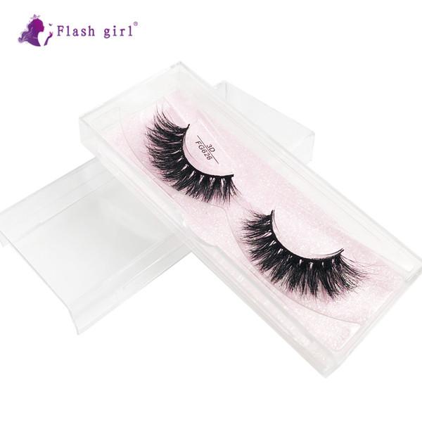 FG626 Wholesale Good Quality FG series 3D 100% real Mink Natural Thick Fake Eyelashes handmade Lashes Makeup Extension