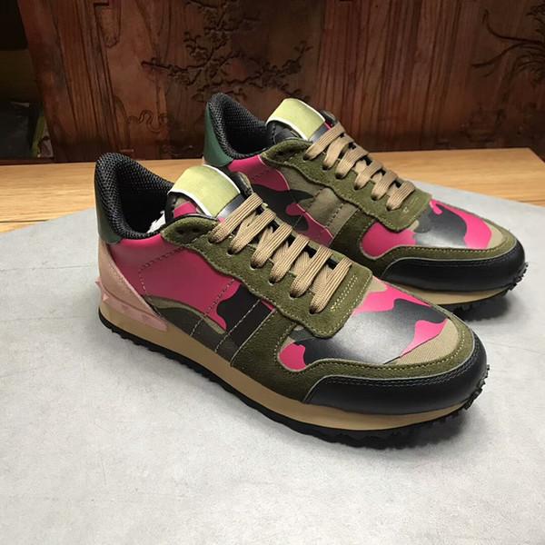 7985ef4f3 2018 NUEVA marca de lujo de cuero zapatos casuales Mujeres Diseñador  zapatillas de deporte zapatos de los hombres de cuero genuino moda color  negro caja ...