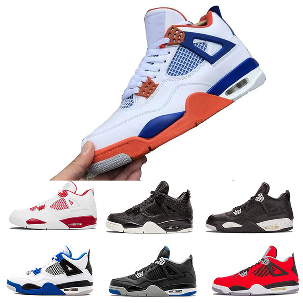2019 New 4ss Basketball Shoes Womens Mens Laser Black Gum Thunder Royalty Tattoo Hot Lava Rapotors Designer Sneakers IVs Pure Money Trainers