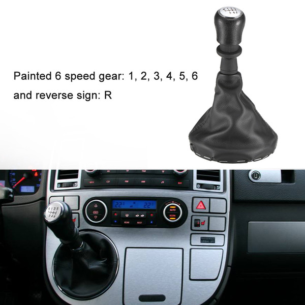 Freeshipping 6 Speed Gear Shift Knob with Dustproof Cover for VW T5/T6 2003-2011