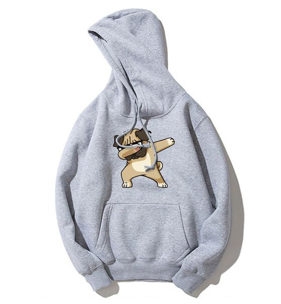 Pulls de chien de bande dessinée d'impression hommes / femmes Hoodie Homme Vêtements d'hiver Pull Décontracté Hommes Drôle Aminal Dabbing Chiens Hoodies