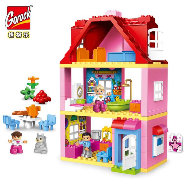GOROCK Girl Princess castle series legoING Figures Building Blocks Family Baby big size Toys Racecourse Horse Christmas Gift