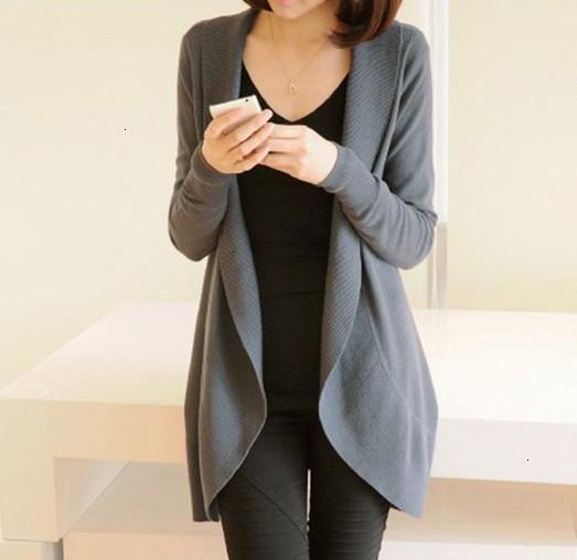 Cardigan Designer Sweater Mulheres 2019 Outono Inverno Nova Mulheres manga comprida camisola de malha Casual Scarf Sólidos Collar Blusas Mulher Roupa