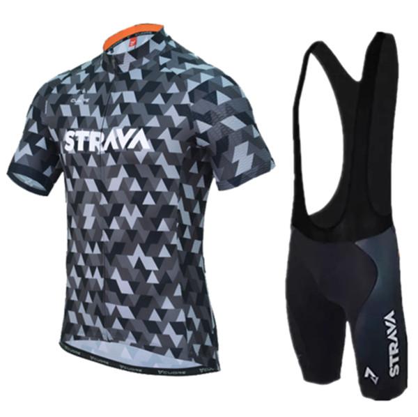 2018 Pro Summer STRAVA Велоспорт Джерси Команда с коротким рукавом Ropa Ciclismo Майо Quick Dry Велосипед Одежда 9D Гель Pad