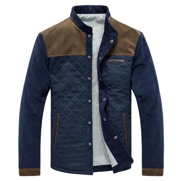 2019 Vente Hot Spring Automne Hommes Casual Veste Outwear Patchwork Manteau Hommes Slim Fit Taille asiatique baisse M-3XL